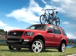 2009 Ford Explorer bicycle carrier