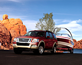 2010 Ford Explorer towing boat