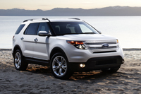 2011 Ford Explorer on beach