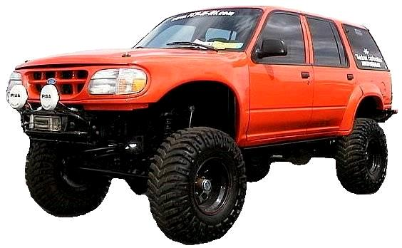 1993 Ford Explorer 4x4 Offroad Solid Axle Swap Orange Ford
