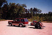Towing dirt bikes